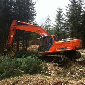 2. Commercial Site Enabling Works - Excavator Mulcher Site Clearance
