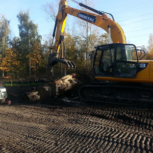 3. Commercial Excavation Works - Excavator log and stump clearance