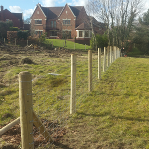 5. Commercial Fencing - Post and Netting Fencing