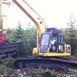 7. Habitat Restoration - plantation mulching to return landscape to wild habitat