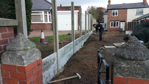 Concrete panels in place