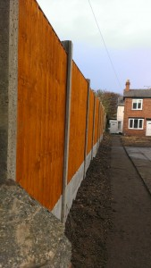 The completed boundary fence and a clean and tidy site.
